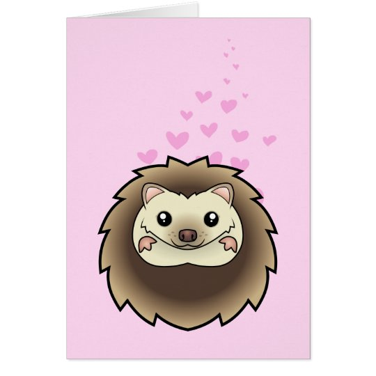Pygmy Hedgehog Love Card