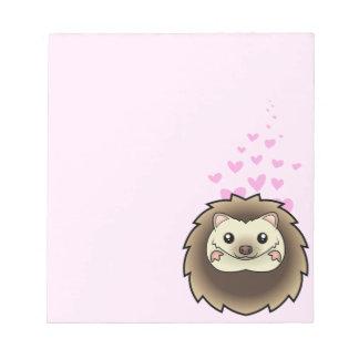 Pygmy Hedgehog Love Notepad