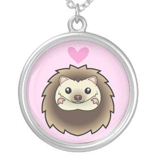 Pygmy Hedgehog Love Round Pendant Necklace