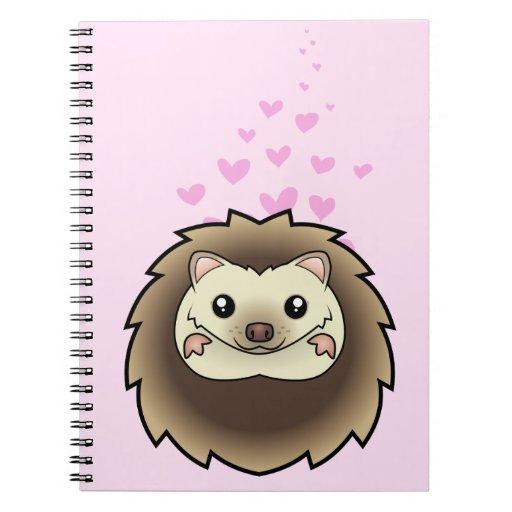 Pygmy Hedgehog Love Spiral Notebook