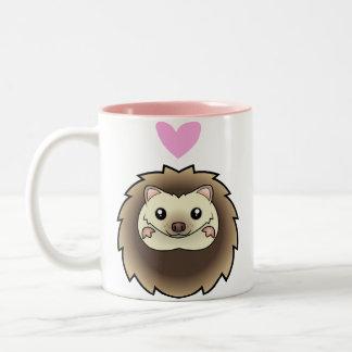 Pygmy Hedgehog Love Two-Tone Coffee Mug