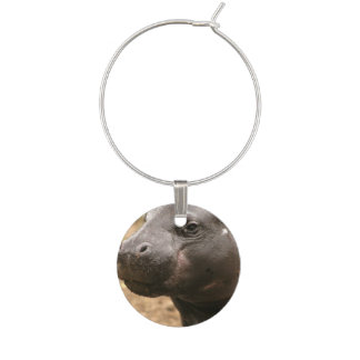 pygmy-hippo-1 wine glass charm
