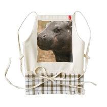 Pygmy Hippo Zazzle HEART Apron