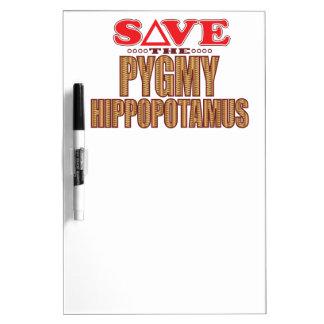 Pygmy Hippopotamus Save Dry-Erase Board