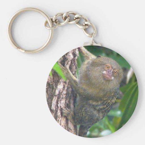 Pygmy Marmoset Basic Round Button Keychain