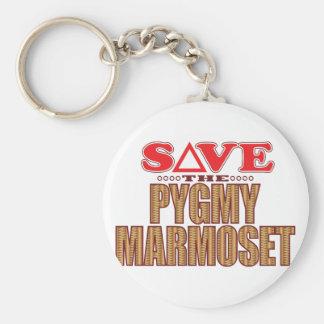 Pygmy Marmoset Save Keychain