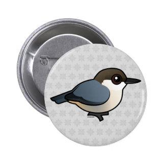 Pygmy Nuthatch Pinback Buttons