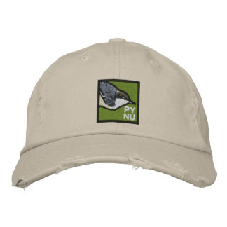 Pygmy Nuthatch Embroidered Hat 2