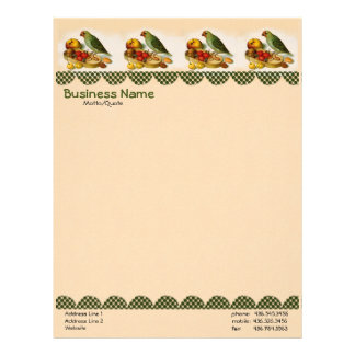 Pygmy Parrot With Fruit and Nuts - Letterhead