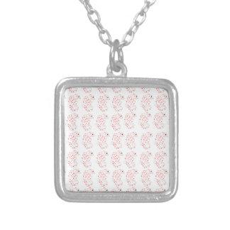 Pygmy Seahorse Pattern Square Pendant Necklace