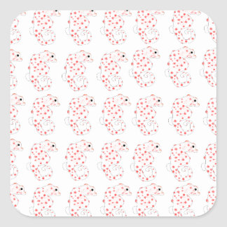 Pygmy Seahorse Pattern Square Sticker