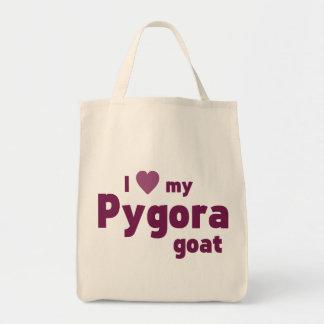 Pygora goat grocery tote bag