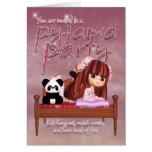 Pyjama Party Invitation Card