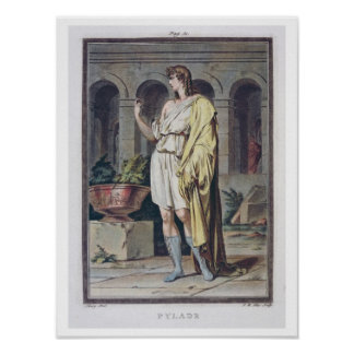 Pylades, costume for 'Andromache' by Jean Racine, Poster