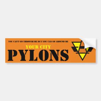 Pylons Bumper Sticker