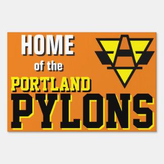 Pylons Hockey Team Lawn Sign