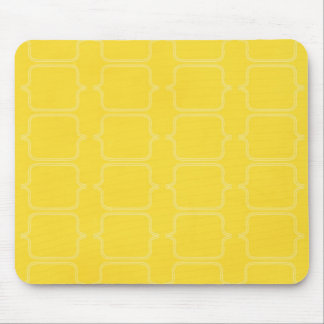 PYM BRIGHT YELLOW PATTERN BACKGROUND TEMPLATE TEXT MOUSE PAD