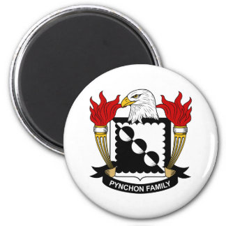 Pynchon Family Crest 2 Inch Round Magnet