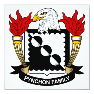 Pynchon Family Crest Personalized Invites