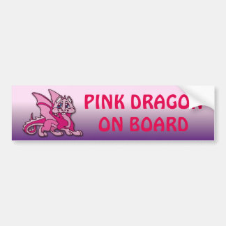 Pynky the dragon bumper sticker