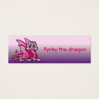 Pynky the dragon mini business card
