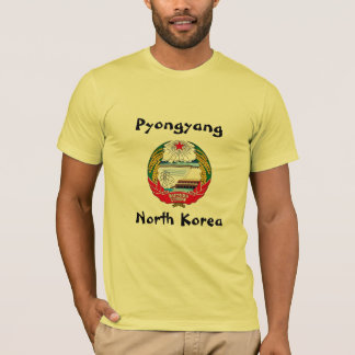 Pyongyang, North Korea with Coat of Arms. T-Shirt