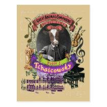 Pyotr Tchaicowsky Cow Animal Composer Tchaikovsky Postcard