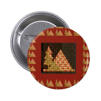 PYRAMID and a TREE Golden UNIQUE Artistic GIFTS Pin
