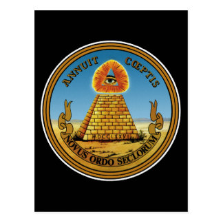 Pyramid and Eye - All Seeing Eye - Great Seal ~ Postcard
