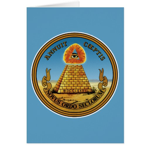 Pyramid and Eye - All Seeing Eye Greeting Card