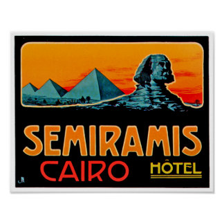 Pyramid and Sphynx, Cairo Poster