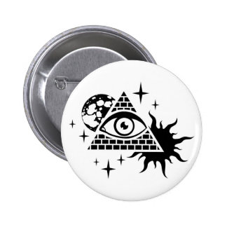 pyramid and the eye pinback button