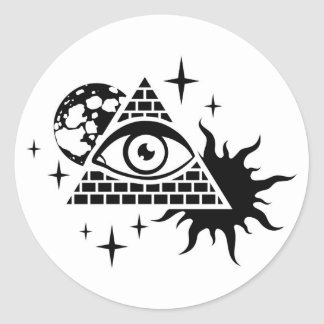 pyramid and the eye classic round sticker