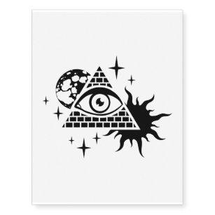 pyramid and the eye temporary tattoos