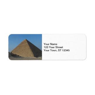 Pyramid at Giza, Egypt Label