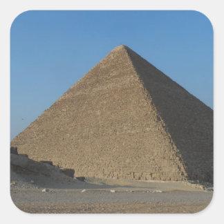 Pyramid at Giza, Egypt Square Sticker