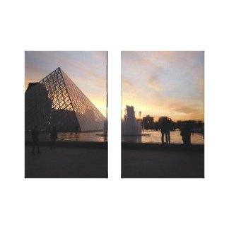 Pyramid at the Louvre Canvas Print