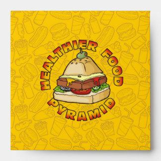 Pyramid Burger Envelopes