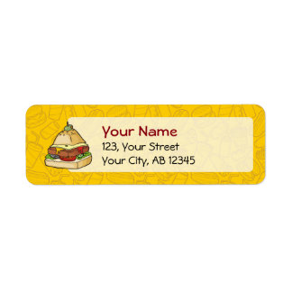 Pyramid Burger Return Address Label