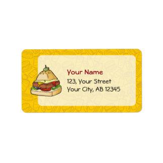 Pyramid Burger Address Label