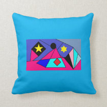 Pyramid City Throw Pillow