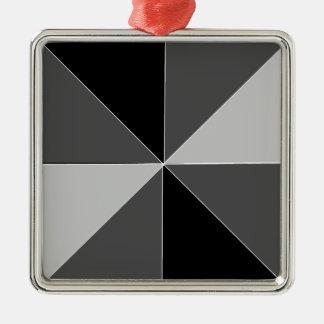 Pyramid Design Metal Ornament