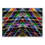 PYRAMID  - Enjoy Healing Energy Spectrum Greeting Cards