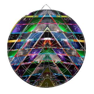 PYRAMID - Enjoy Healing Energy Spectrum Dartboard With Darts