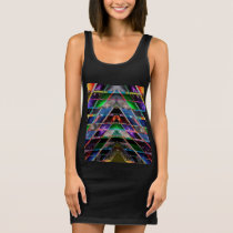 PYRAMID  - Enjoy Healing Energy Spectrum Sleeveless Dress