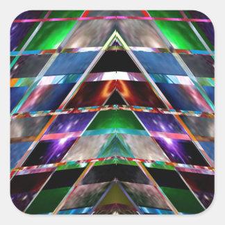 PYRAMID  - Enjoy Healing Energy Spectrum Square Sticker