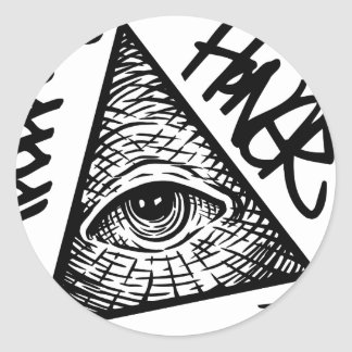 Pyramid Eye Classic Round Sticker