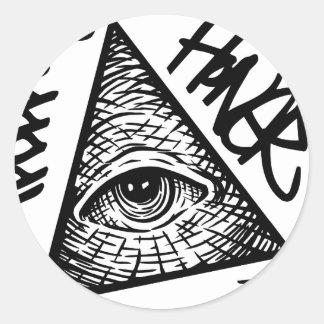 Pyramid Eye Classic Round Sticker