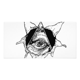 pyramid eye custom photo card