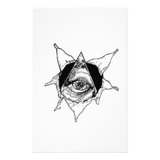 pyramid eye custom stationery